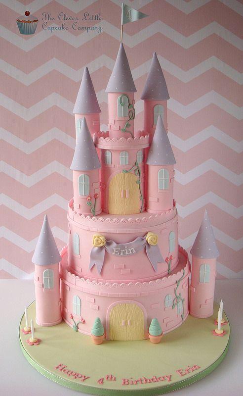 Pink Princess Castle Cake In 2018 Bolo Decorado Pinterest Cake