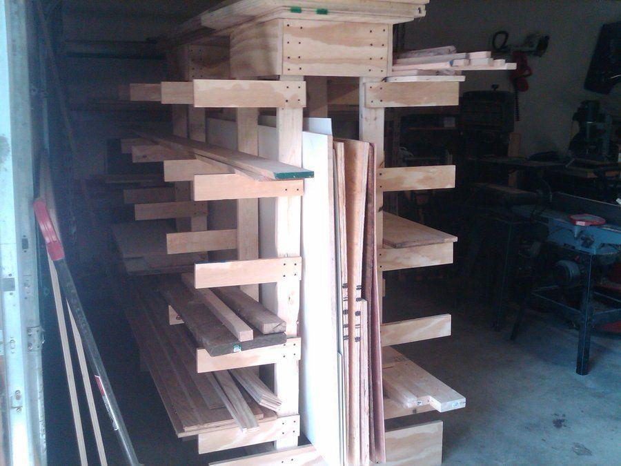 Free Standing Lumber Rack