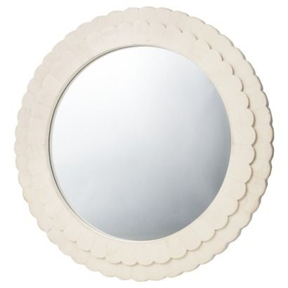 Wall Mirror Target threshold for target, scalloped wall mirror | $24 | fashionably