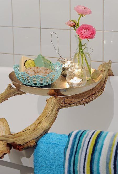 Ramas como soporte para tus articulos de baño
