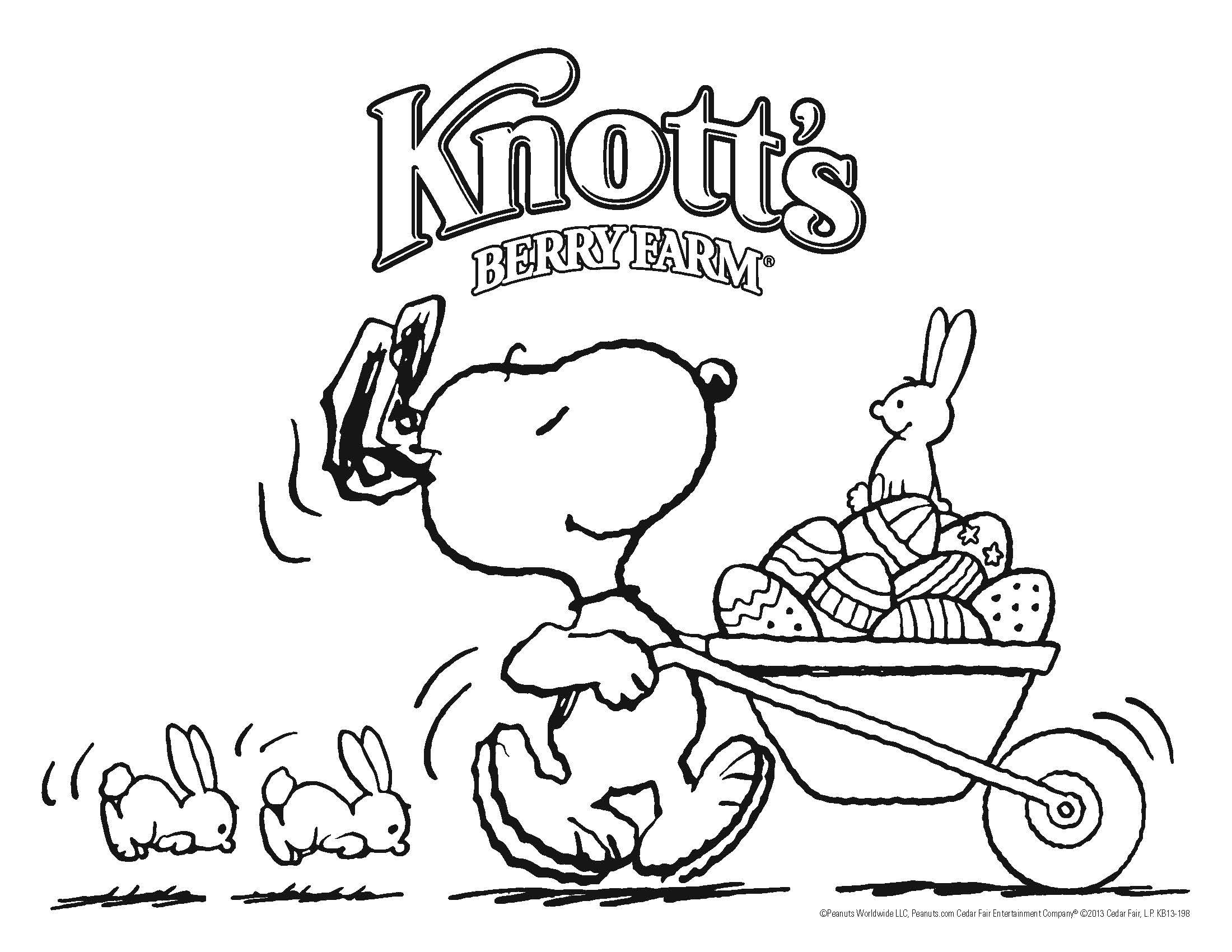 snoopy easter coloring pages pic