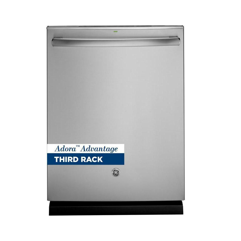 Ge adora top control dishwasher in stainless steel with