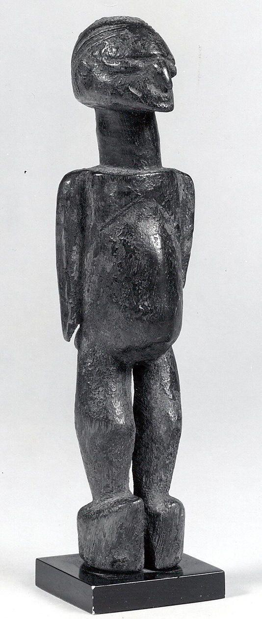 Figure (Bateba)  Date: 19th–20th century Geography: Burkina Faso Culture: Lobi Medium: Wood Dimensions: H x W x D: 7 7/8 x 2 1/8 x 1 3/4in. (20 x 5.4 x 4.5cm)