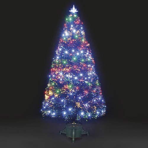 4ft multi color fiber optic christmas tree