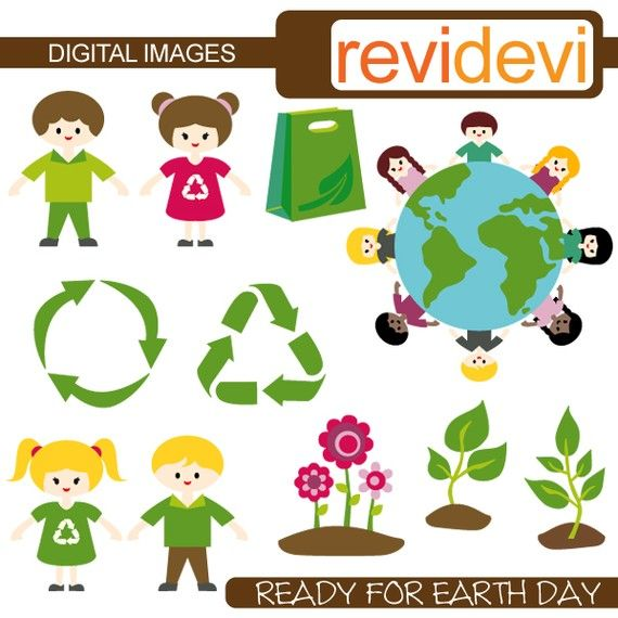 Buy 5 Get 5 Free Ready For Earth Day Clipart 07285 Digital Images Graphic Clip Art For Commercial Use 4 00 Via Etsy Clip Art Earth Day Art