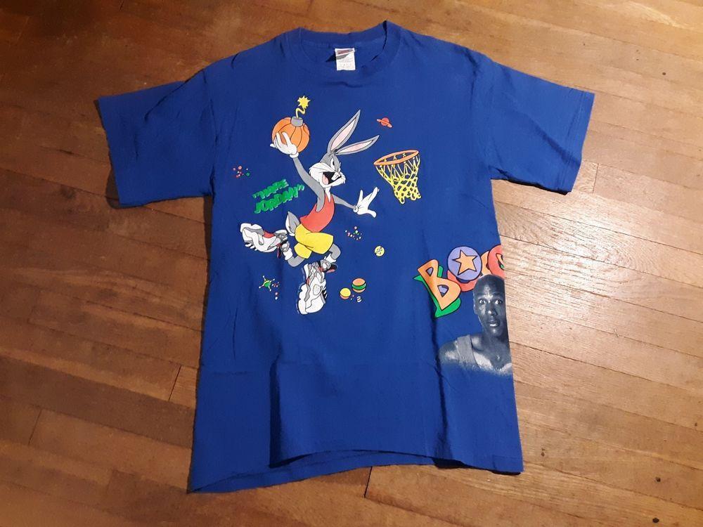 6489ced5ba360f Vintage Nike Hare Jordan Bugs Bunny Shirt Sz Large Gray Tag 1993 Michael  Jordan  MichaelJordan