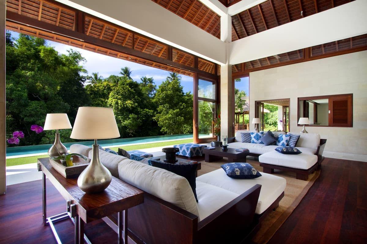 Salon Dans Villa De Luxe à Bali Vie Tropicale Tropicalbali