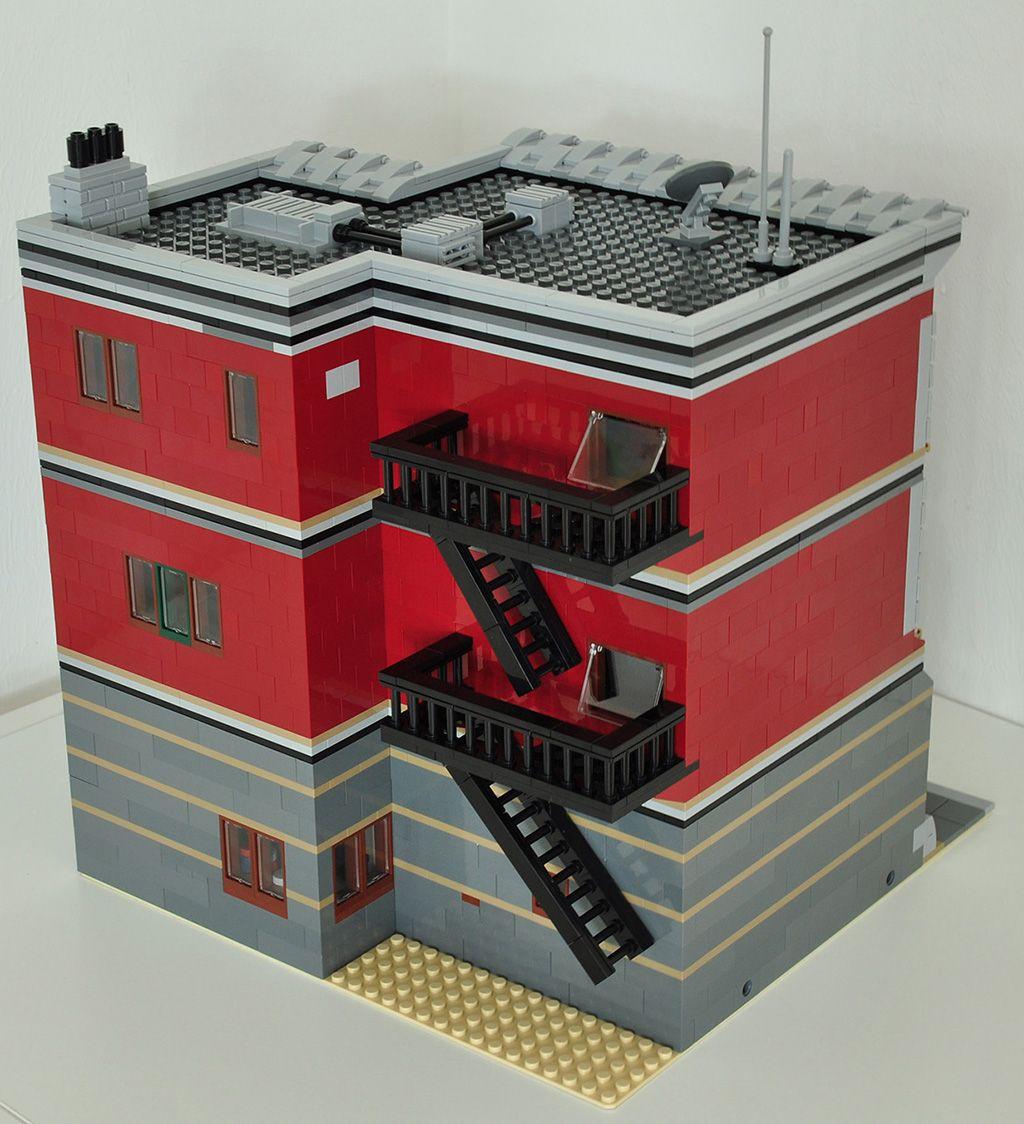 Lego Moc Modular Pizza Parlor