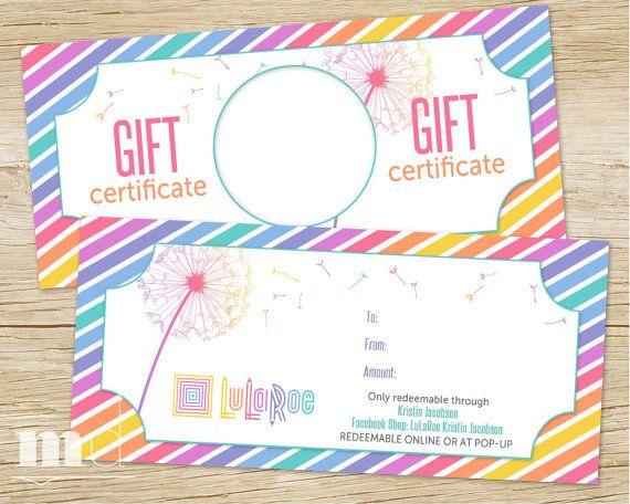 LuLaRoe Gift Certificate, LulaRoe Gift Card, best llr dandelion ...