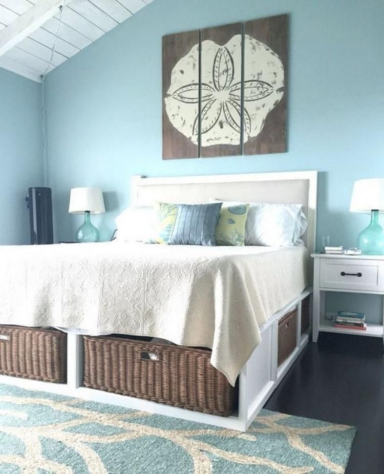 Awesome Coastal Master Bedroom Decorating Ideas Dekorasi Rumah