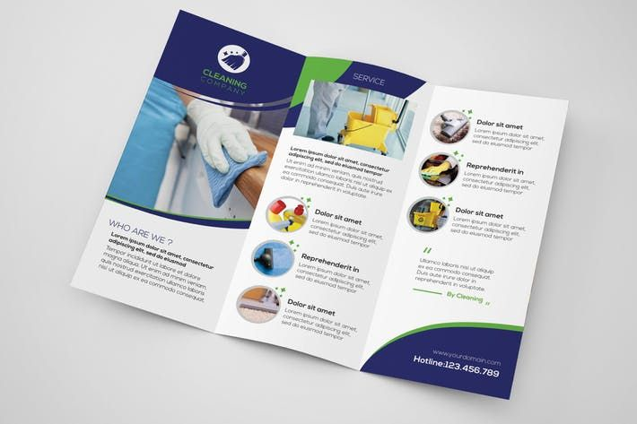 Cleaning Company - Trifold Brochure Template by Wutip Design
