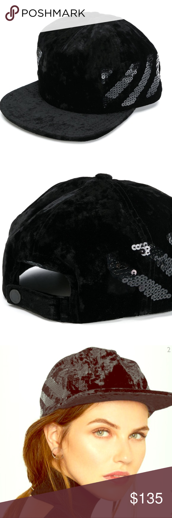 0cee3a4b5 ⭐Authentic Off-White Velvet Baseball Cap w/sequin Off-White's plush ...