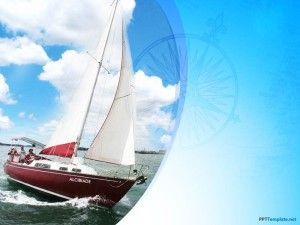 Free Background Template With Yacht Ppt Design And Ship Ready To