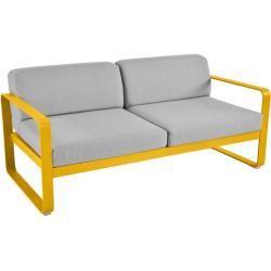 Photo of Fermob Bellevie 2-Stizer sofa med puter flanellgrå / off-white gulrot flanellgrå Fermob