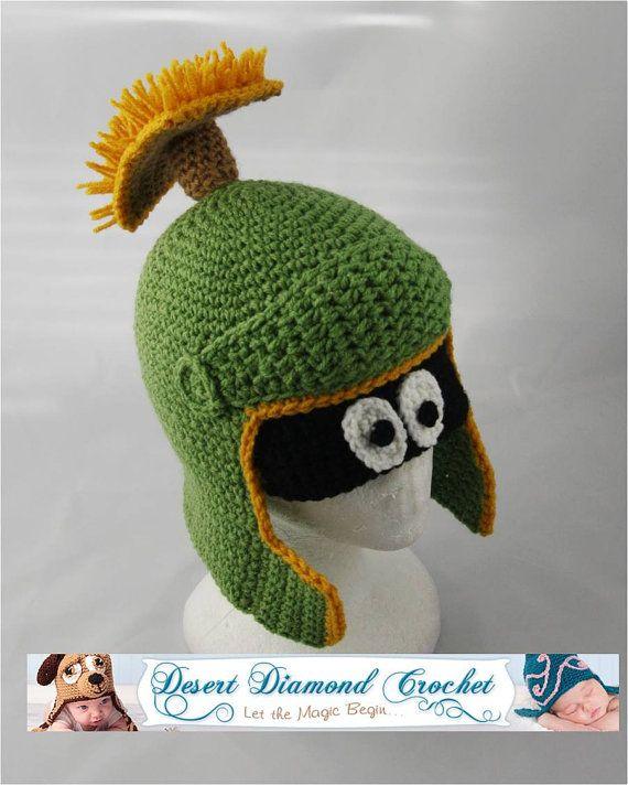 Crochet Pattern 055  Alien Hat by desertdiamond on Etsy, $5.95