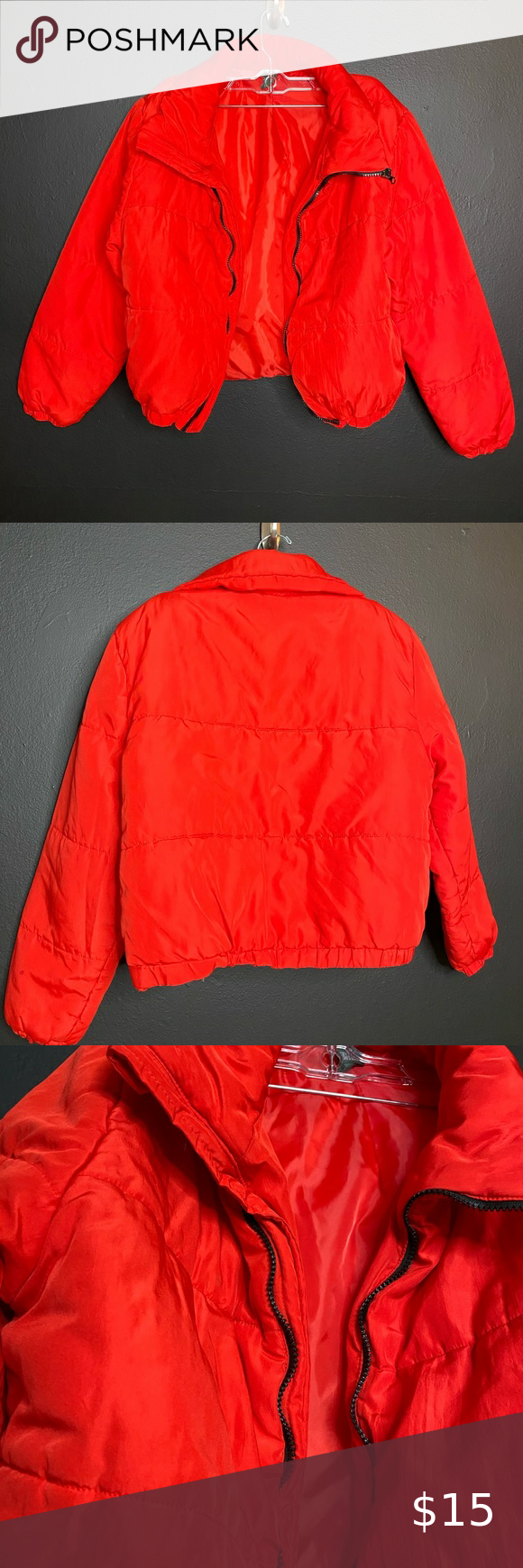 Wild Fable Women S Red Puffer Jacket Red Puffer Jacket Bright Jacket Clothes Design [ 1740 x 580 Pixel ]