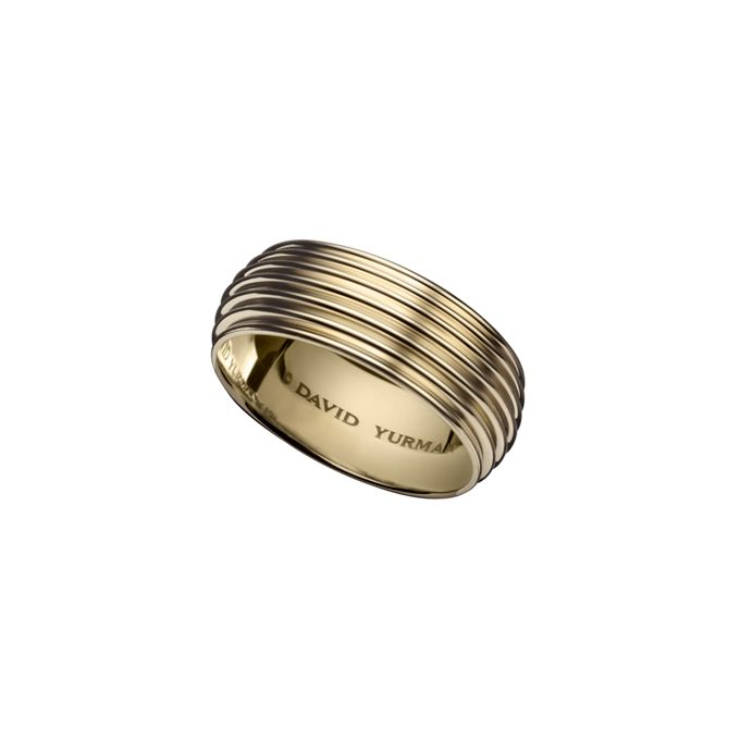 Brides David Yurman Royal Cord wide band wedding ring in 18k