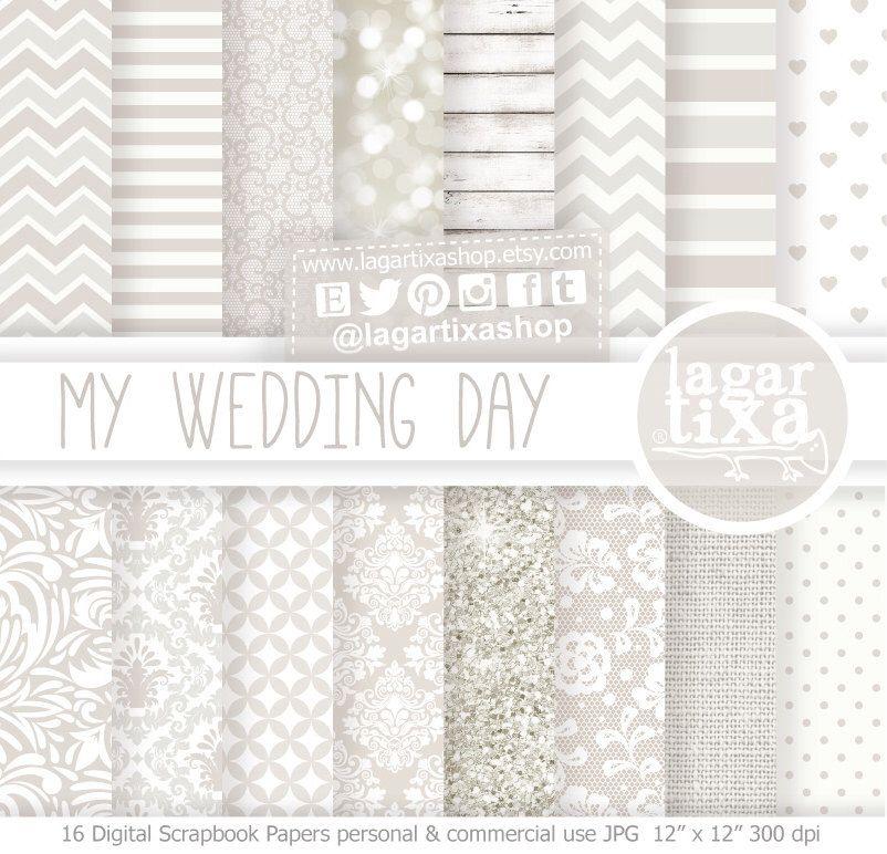 Wedding Digital Paper Invitations white glitter Background chevron polka dots lace distressed wood linen by Lagartixa by LagartixaShop on Etsy https://www.etsy.com/listing/172029949/wedding-digital-paper-invitations-white