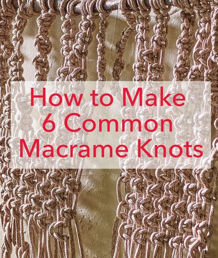 Best 25 how to macrame ideas on pinterest macrame knots for How to make a rope wall