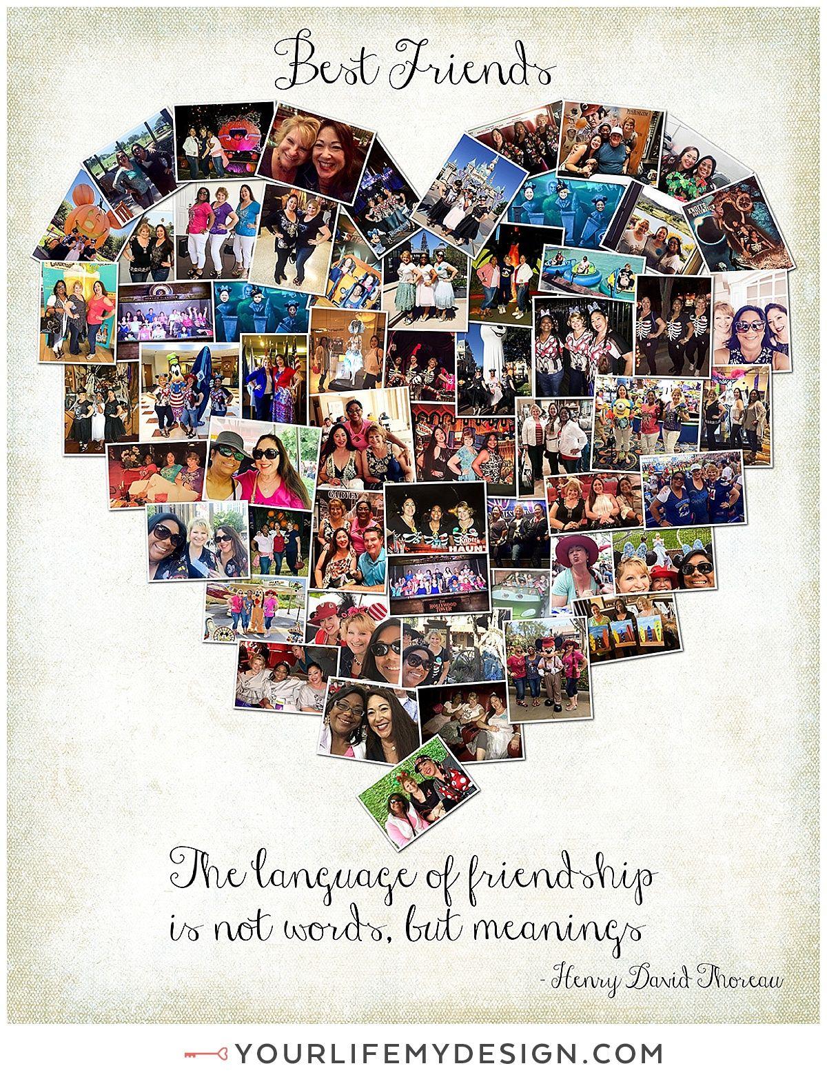 Heart Collage : heart, collage, 16x20, Photos, Heart, Collage., Friends, Collage, Background, Photo, Collage,, Family
