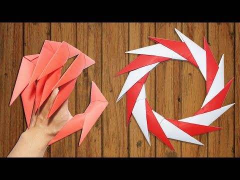 origami easy how to make dragon claws amp paper ninja star
