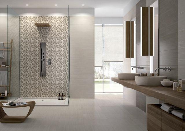 Carrelage salle de bains 34 id es avec la belle mosa que interiors interior design and design for Belle salle de bain moderne