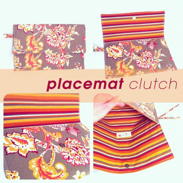 Thrifty Crafting | Placemat Clutch |