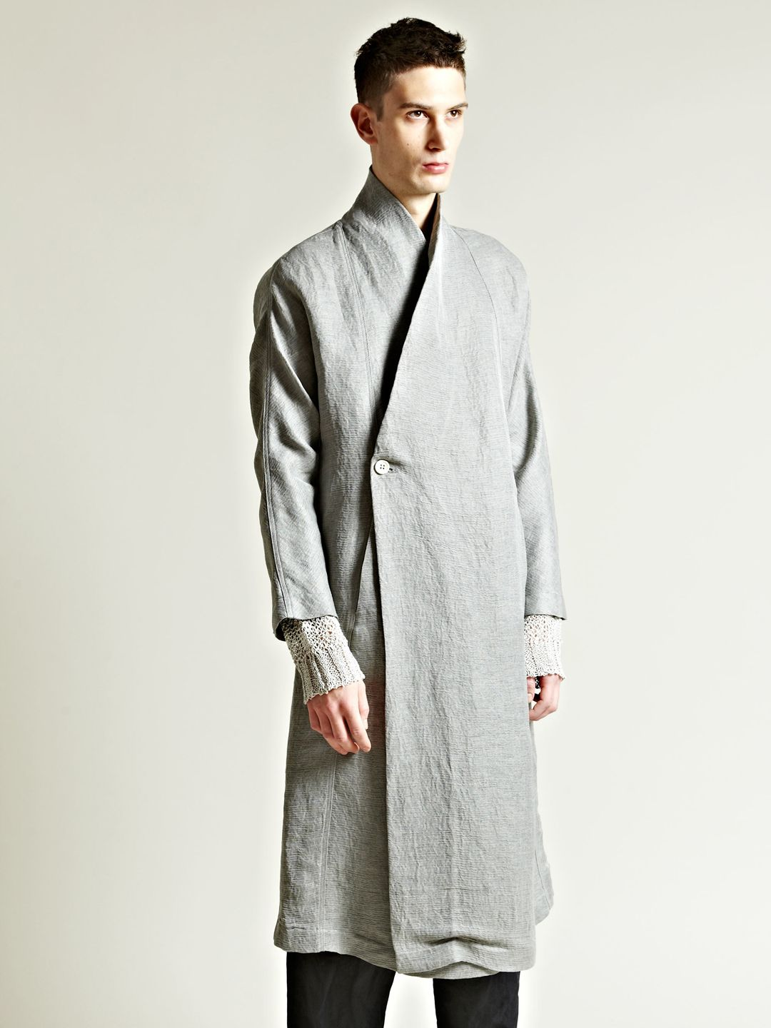 Damir Doma Mens Kimono Sleeve Coat In Gray For Men Grey Lyst