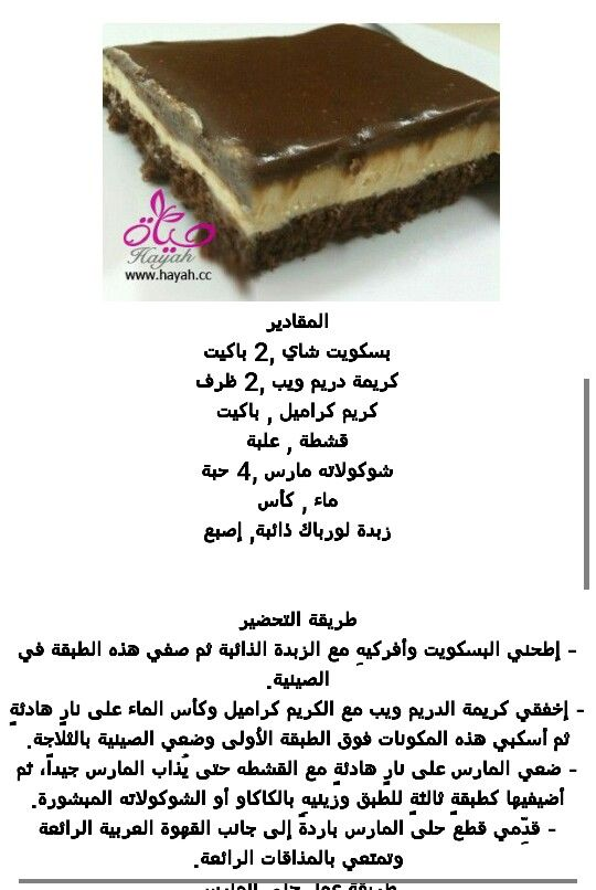 كيكة المارس Favorite Recipes Desserts Food
