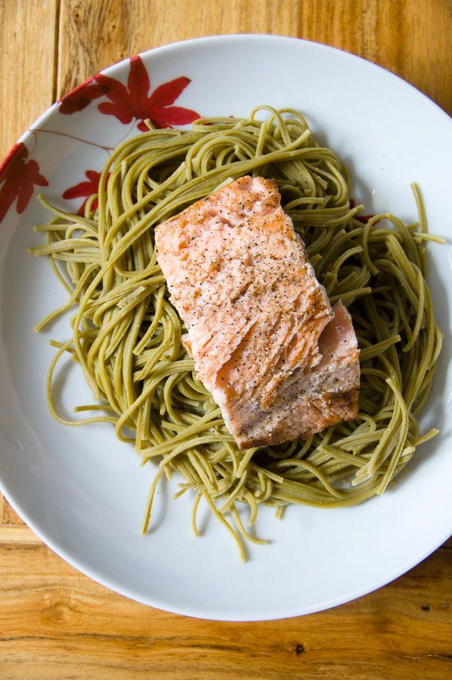 Edamame Noodles With Salmon Recipe Edamame Noodles Stuffed