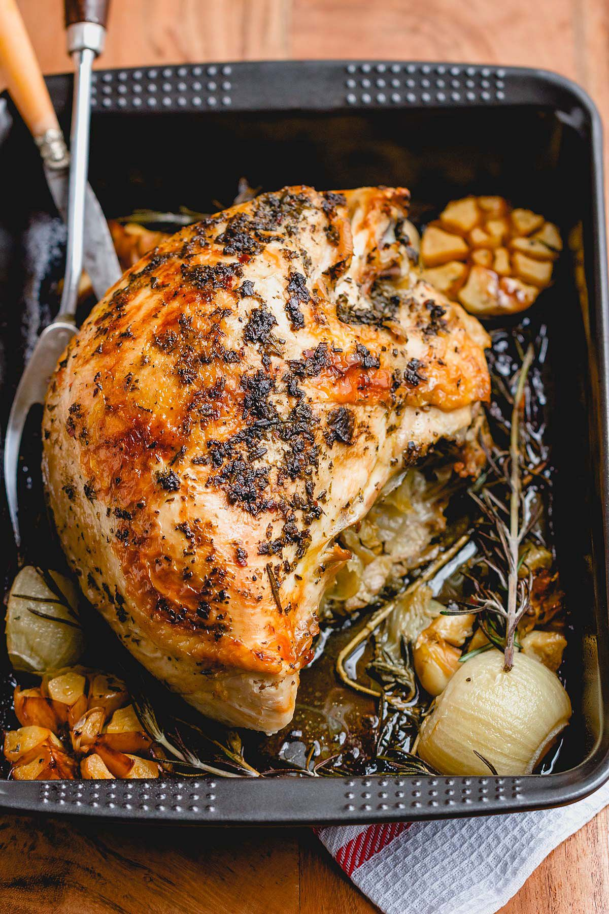 Photo of Roasted Turkey Breast with Garlic Herb Butter