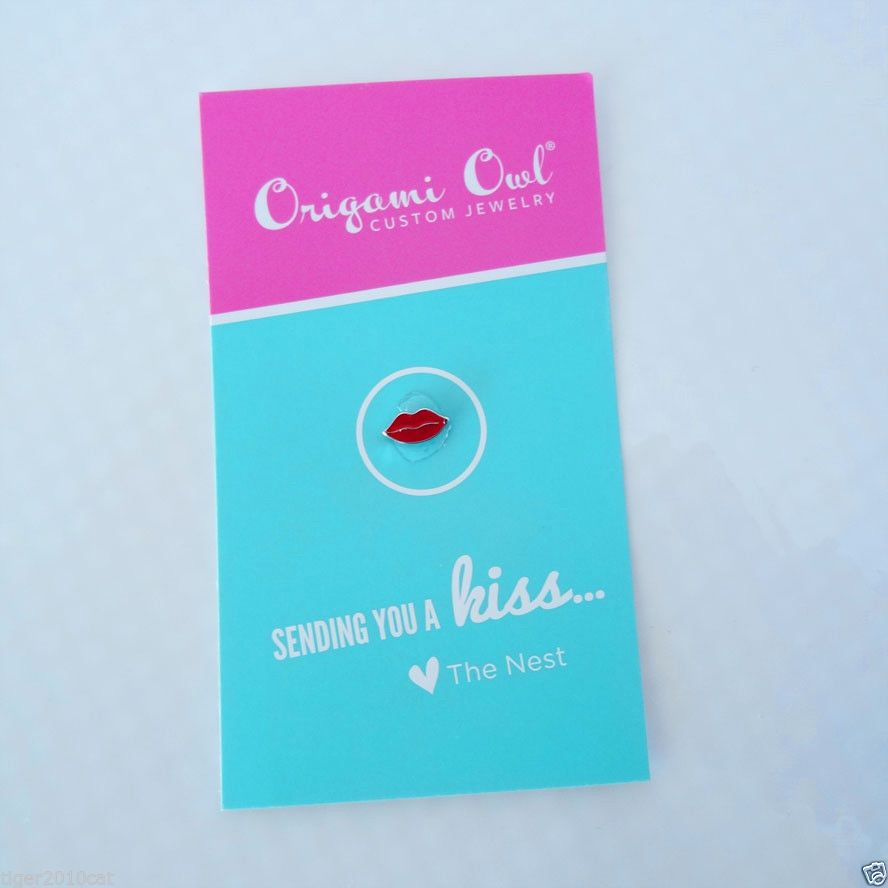 RARE Origami Owl Send you a kiss charm with business card from The ...