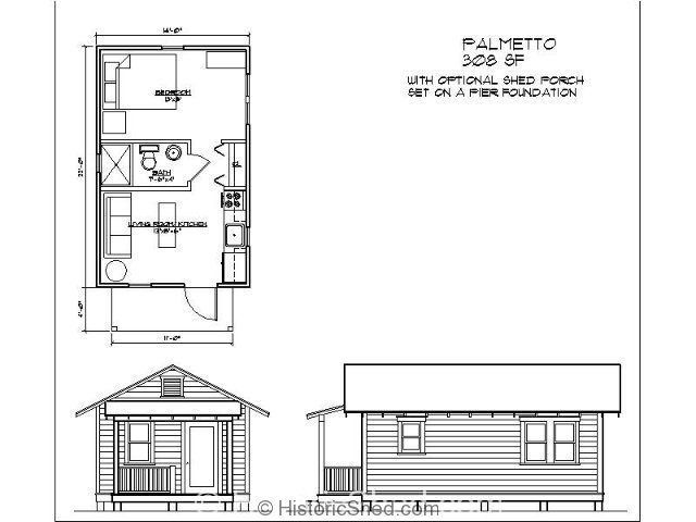Small Shed House Floor Plans: Historic Shed Cottages/ Tiny