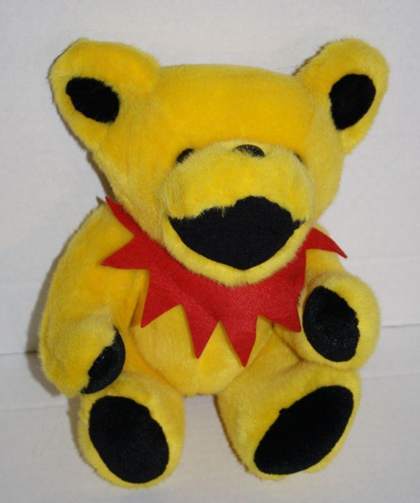 Grateful Dead Bear Plush Yellow Dancing Jerry Garcia Jointed