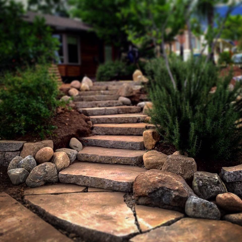 how to build steps in landscape