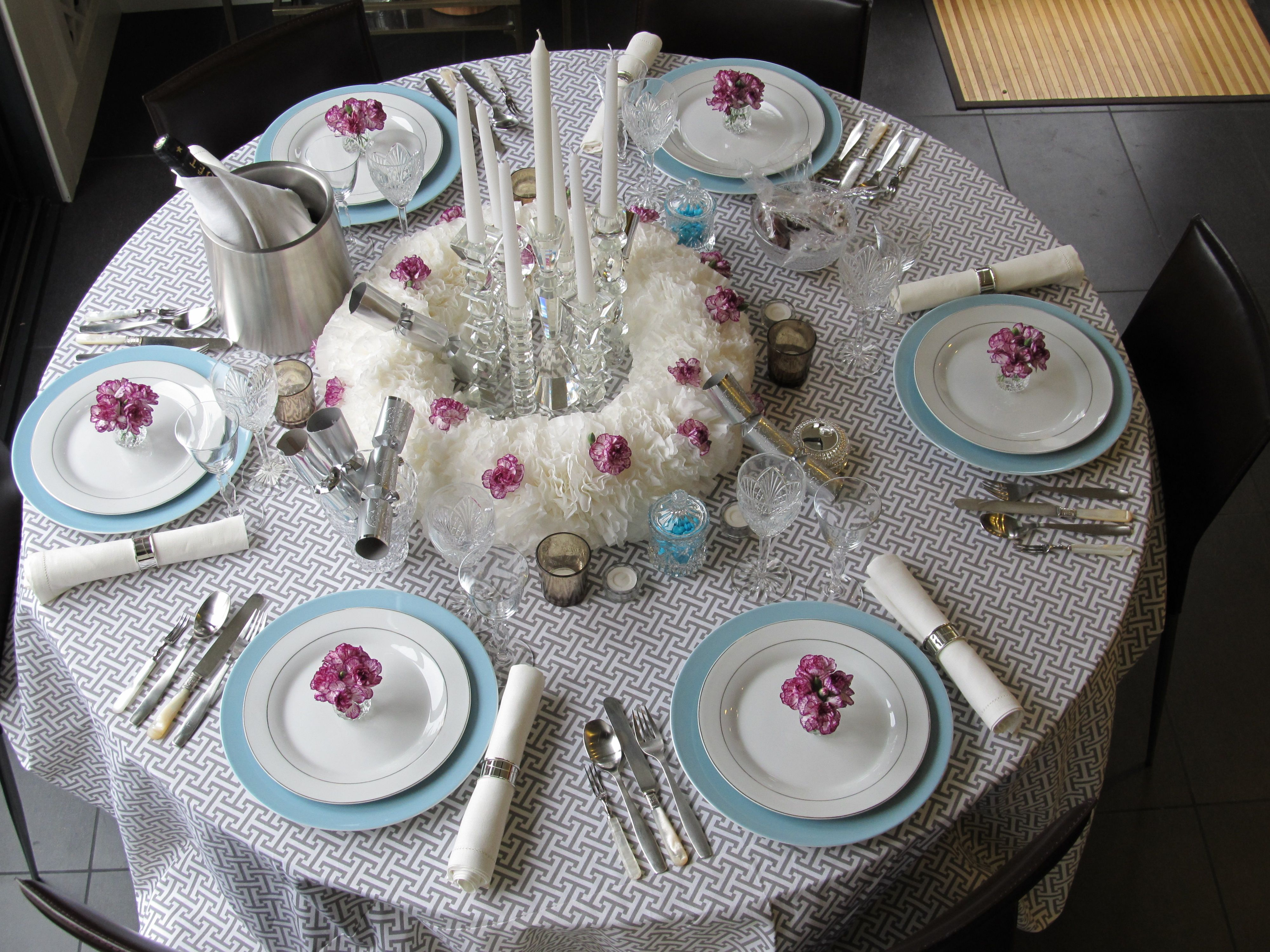New Years Eve Dinner Party Table Setting