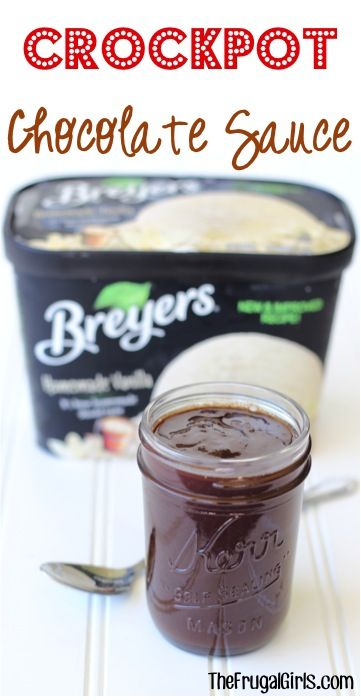 Crockpot Chocolate Sauce Recipe! {2 Easy Ingredients} - The Frugal Girls