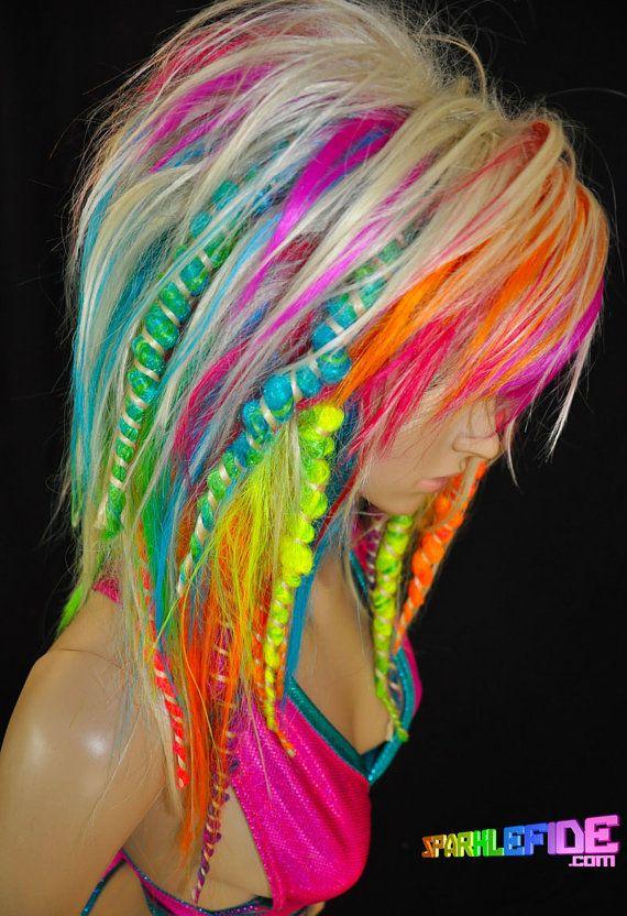Vision UV Rainbow Wig By SparkleFide On Etsy