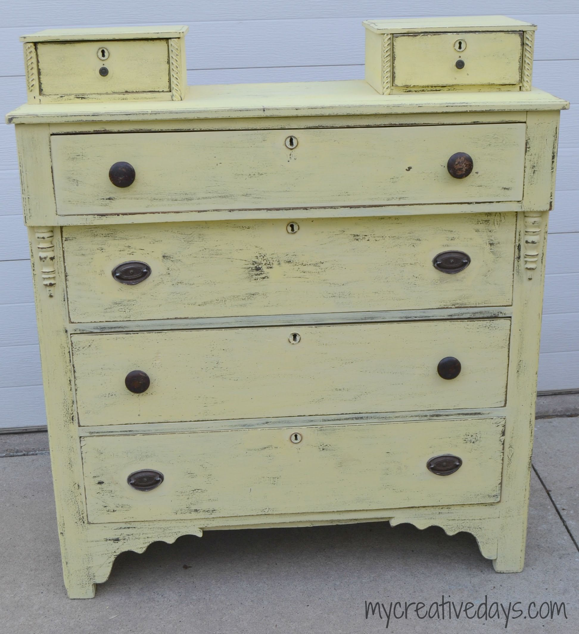 Shabby Chic Dresser Makeover {guest post}