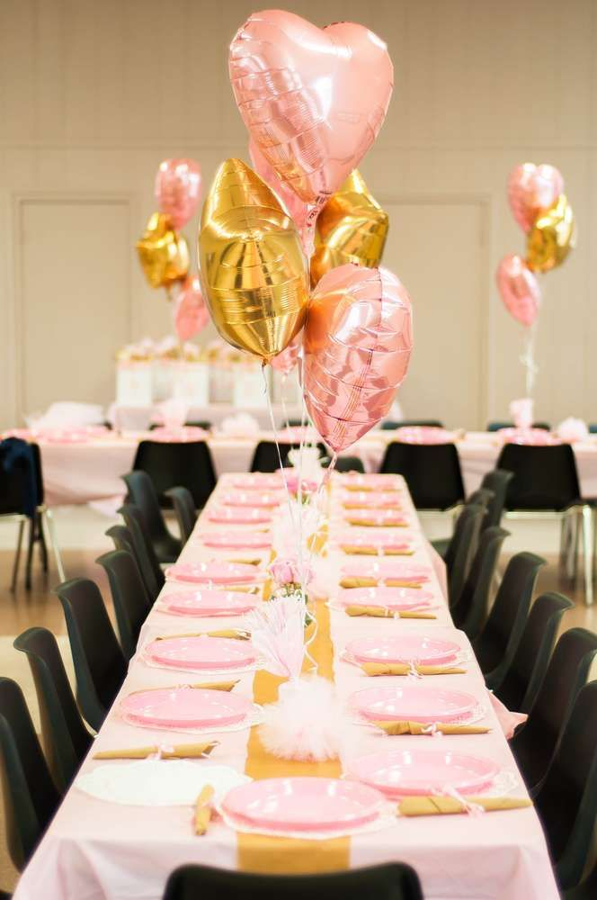 Ballerina Theme Pink And Gold Birthday Party Ideas Ballerina