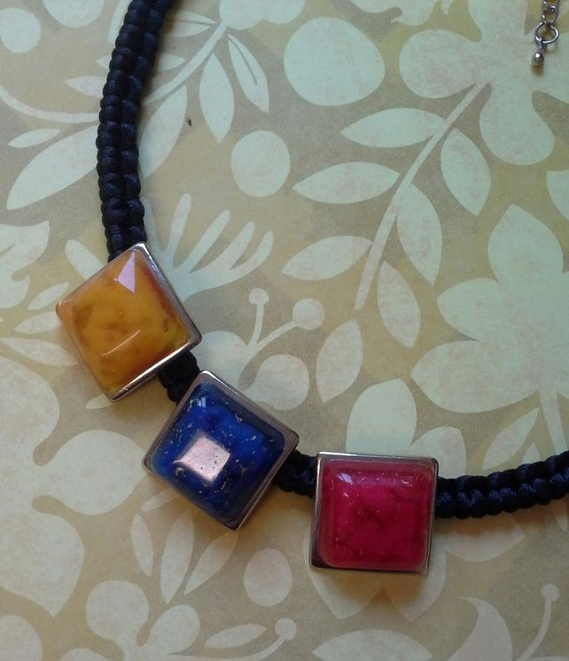 Three Colour Resin  Necklace £12.00  By Lisa Jane