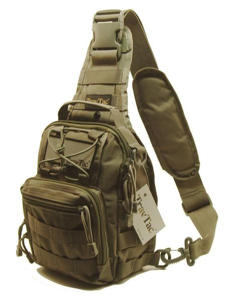 CamGo Tactical Sling Bag Water-Resistant Crossbody Chest Pack One Strap Mini Shoulder Backpack for Walking Hiking Traveling Fishing