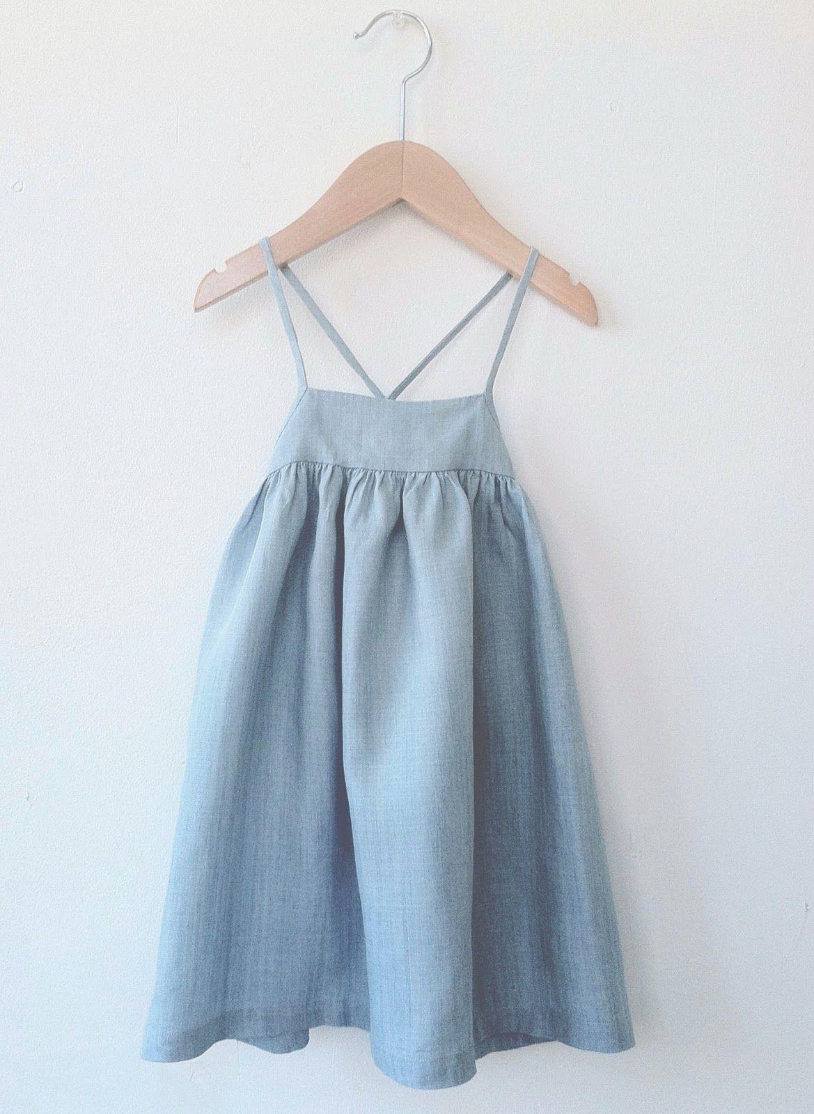 Summer Dress For Little Girls Denim Strappy Toddler Dress Little Girl Dresses Kids Outfits [ 1600 x 1169 Pixel ]