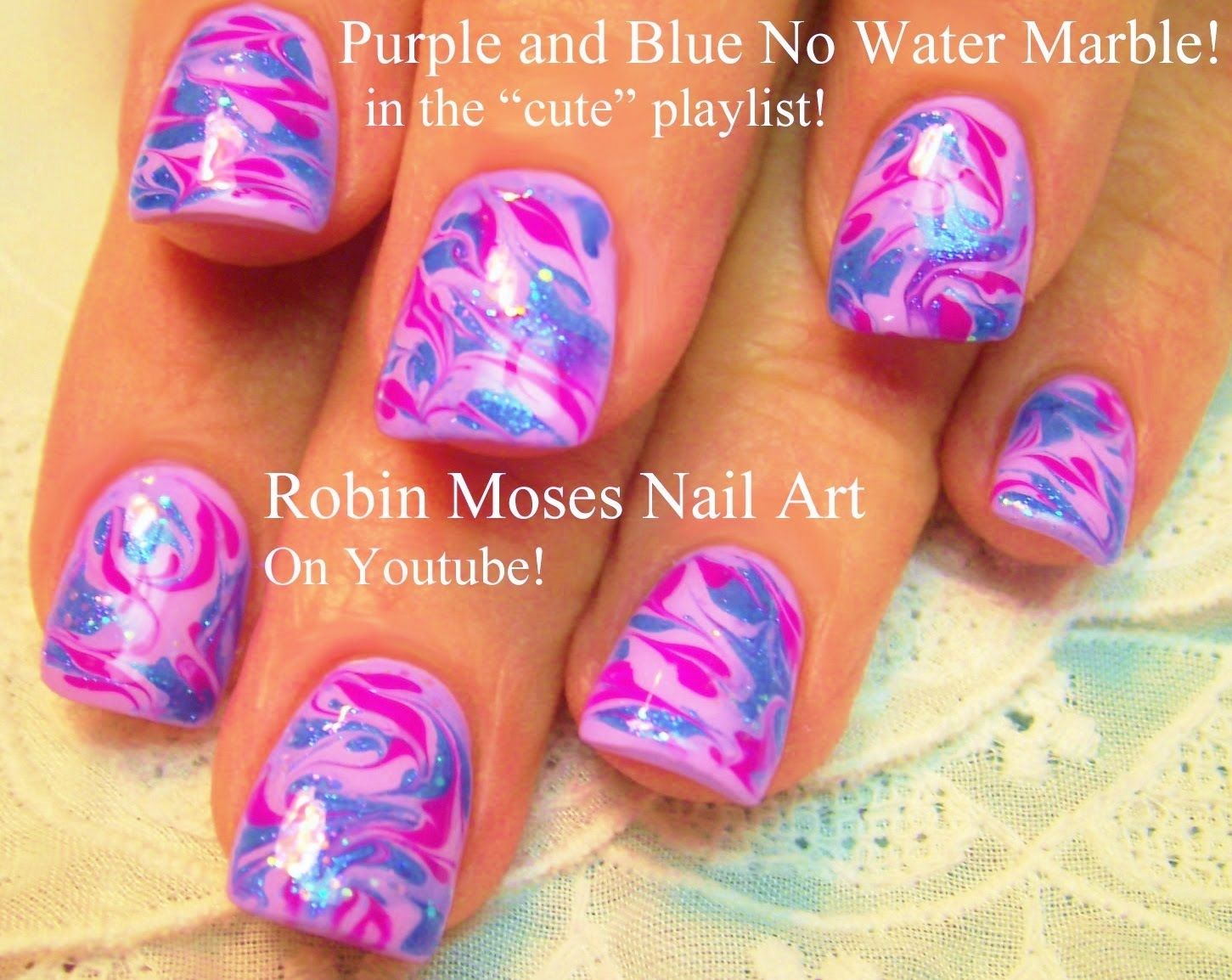 No Water Needed | Cute Marble nail art Tutorial | Nails...My New ...