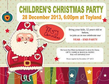 Children Holiday Party Christmas Flyer Template  Christmas