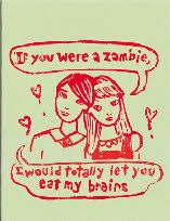 for your zombie loving hubby/boyfriend on valentines day, love it!