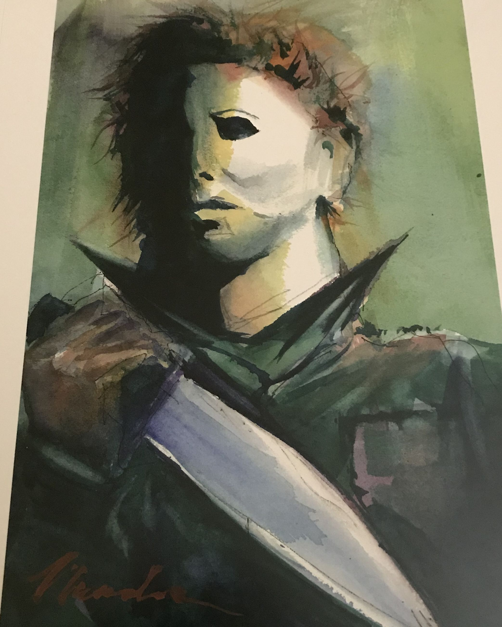 Halloween Michael Myers Movie Art Print Horror in 2020