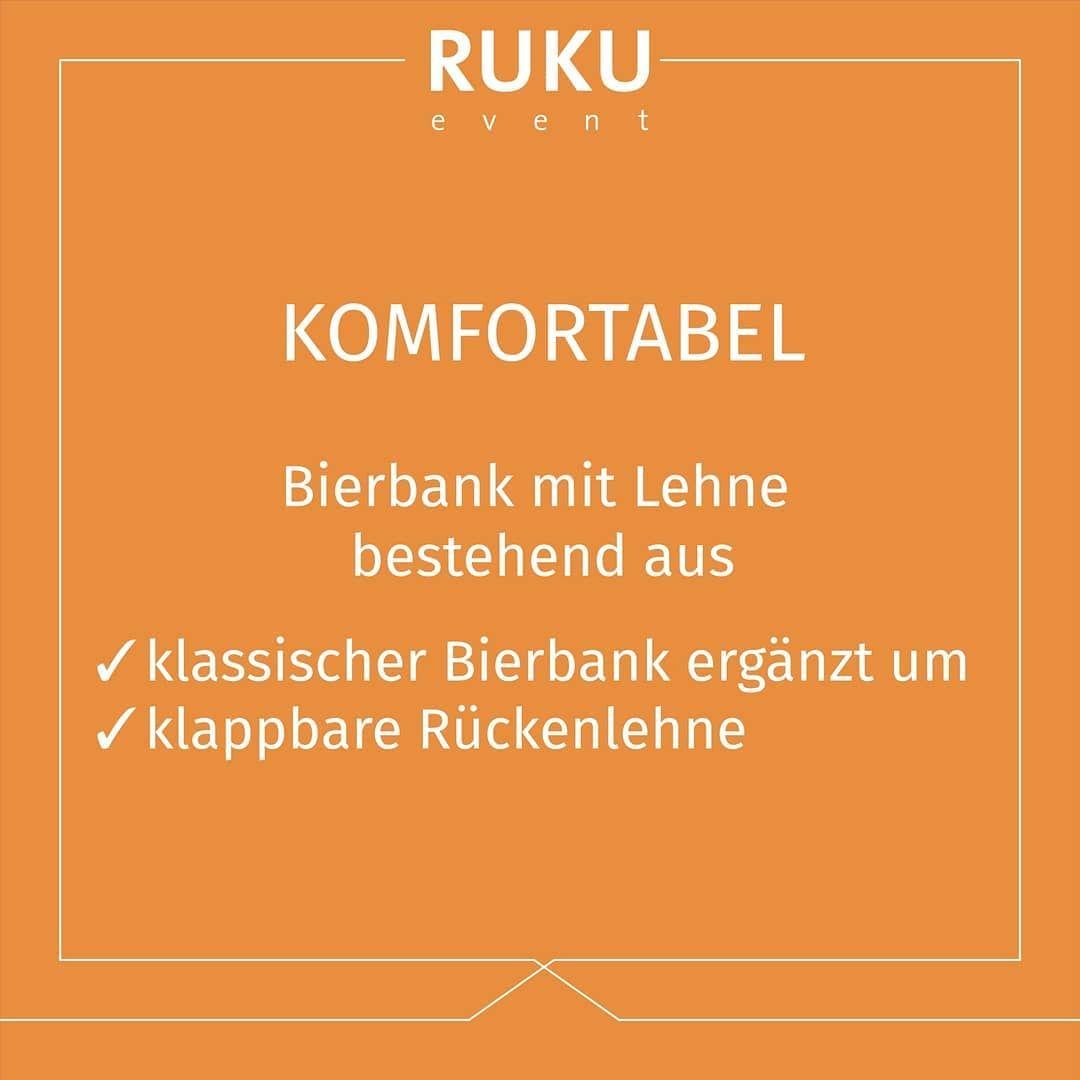 Extra Komfort Unsere Bierbank Mit Lehne