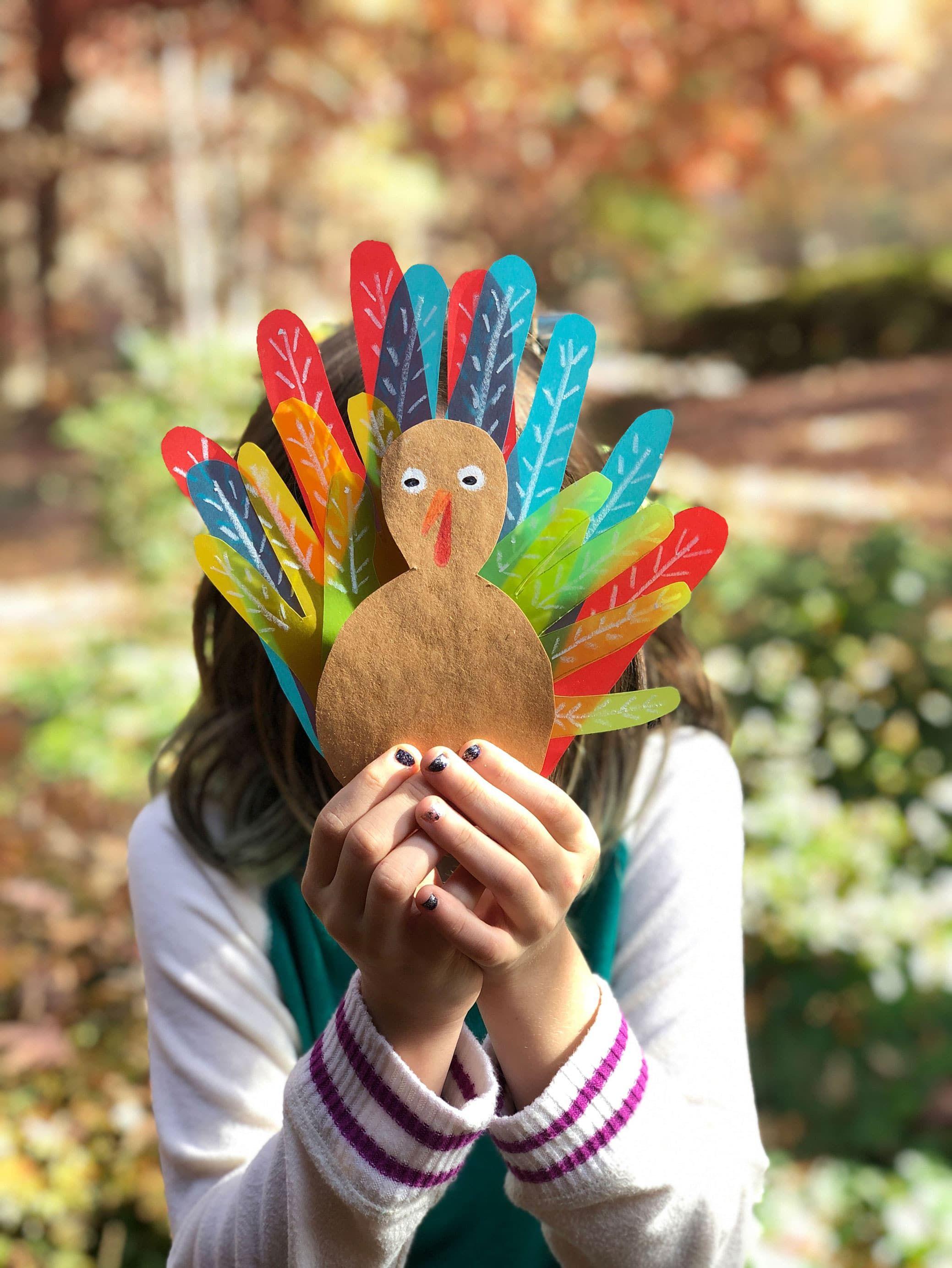 Family Handprint Turkey #handprintturkey