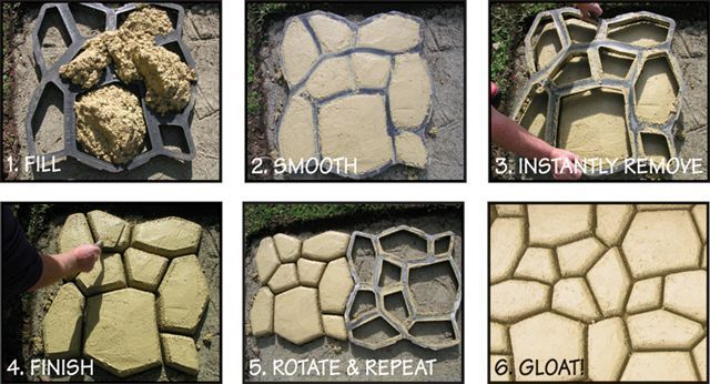 Concrete Pavers Home Garden Ebay Cement Pavers Floor Molding Paver Molds